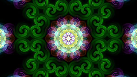 deformation of color flower lotus pattern, orienta Animation