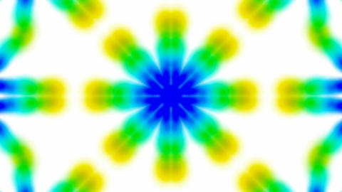 Animation of green flower lotus texture.Buddhism Mandala... Stock Video Footage