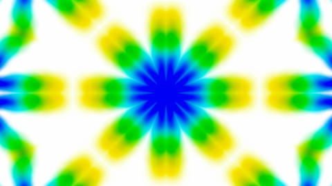 Animation of green flower lotus texture.Buddhism Mandala flower,kaleidoscope,oriental religion textu Animation