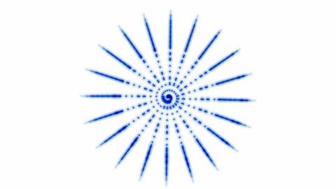 Rotating blue dots circular... Stock Video Footage