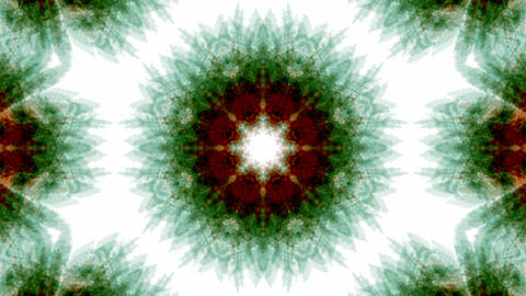 green rotation snowflake pattern,kaleidoscope.lotus,Buddhism Mandala flower,kaleidoscope,oriental re Animation