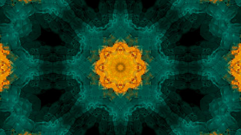 Animation of green flower lotus pattern,orient religion... Stock Video Footage