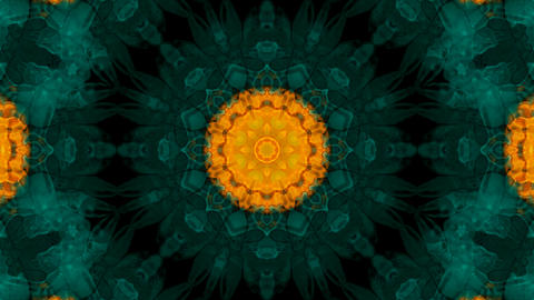 Animation of green flower lotus pattern,orient religion fancy texture.Buddhism Mandala flower,kaleid Animation