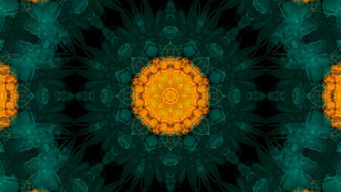 Animation of green flower lotus pattern,orient religion fancy texture.Buddhism Mandala flower,kaleid Animation