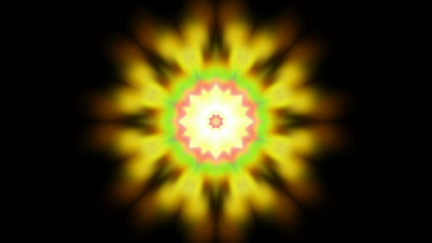 yellow flower lotus pattern,orient religion totem,kaleidoscope.Buddhism Mandala flower Animation