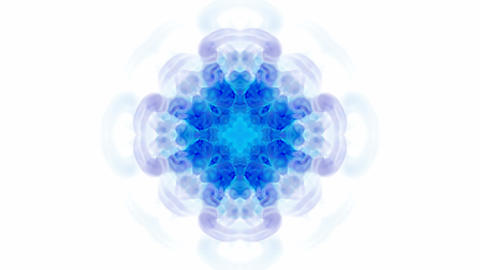 blue flower lotus pattern,orient religion totem,kaleidoscope.Buddhism Mandala flower Animation