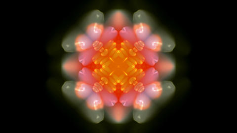 orange rotation flower pattern,kaleidoscope,oriental... Stock Video Footage
