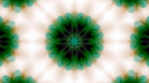 green flower lotus pattern,kaleidoscope,gorgeous oriental... Stock Video Footage