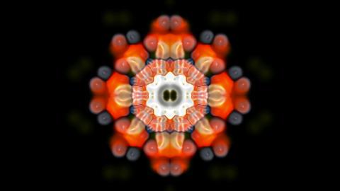 orange rotation flower pattern,kaleidoscope,oriental... Stock Video Footage