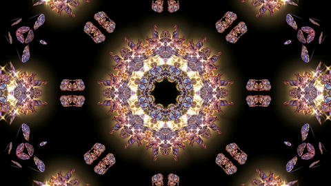 gold butterfly circle pattern and stars.lotus fancy... Stock Video Footage