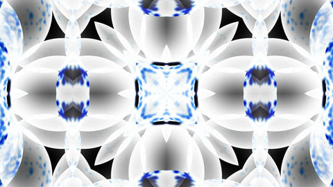 blue glass flower lotus fancy pattern.Buddhism Mandala... Stock Video Footage