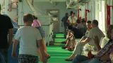 Passengers On The Deck Of The Liner 15 stock footage