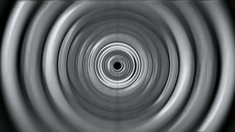 3d gray metal round,ripple,circle computer interface.Sound,wave,frequency,spectrum,vibration,brain,w Animation