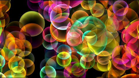 Animation of color disco balls or... Stock Video Footage