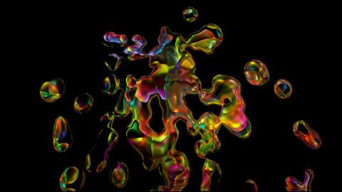 color liquid splash,water... Stock Video Footage