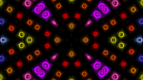 color disco neon light background.mosaics,particle,symbol,dream,vision,idea,creativity Animation