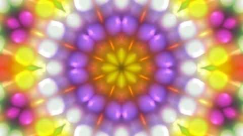 color disco flower pattern,magnificent orient fancy... Stock Video Footage