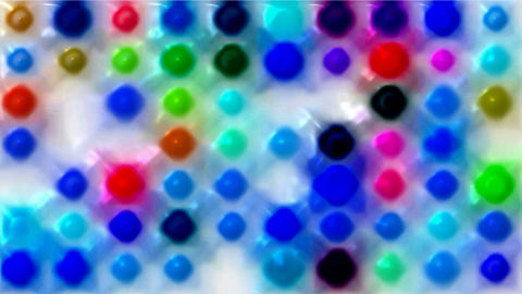 3d color dots and particles array... Stock Video Footage