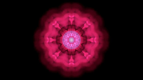 red rotation flower lotus pattern,kaleidoscope.Buddhism Mandala flower,kaleidoscope,oriental religio Animation