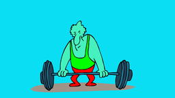 WEIGHT LIFTER Stock Video Footage