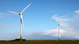 Wind Turbines 2 Stock Video Footage