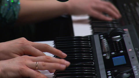keyboards 2 hands Stock Video Footage