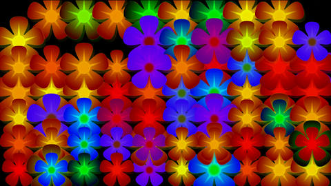 flicker flower neon... Stock Video Footage