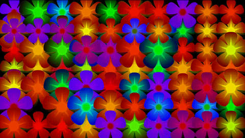 flicker flower neon light,Festivals,bloom,lush,prosperous,welcome,creativity,creative,vj,beautiful,a Animation
