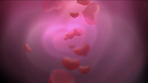 Brightly pink heart,falling... Stock Video Footage