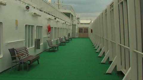 Deck cruise liner 1 Stock Video Footage