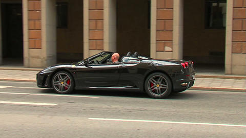 Ferrari on the street 1 Stock Video Footage