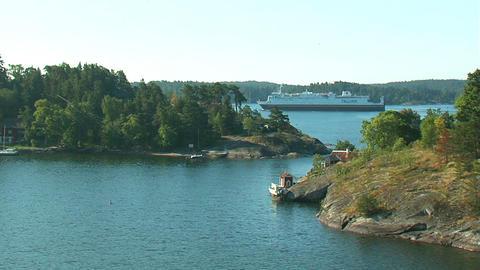 Islands in Scandinavia 3 Stock Video Footage