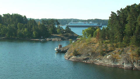 Islands in Scandinavia 3 Stock Video Footage