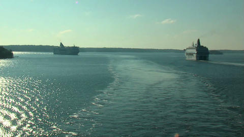 Ocean liner 7 Stock Video Footage