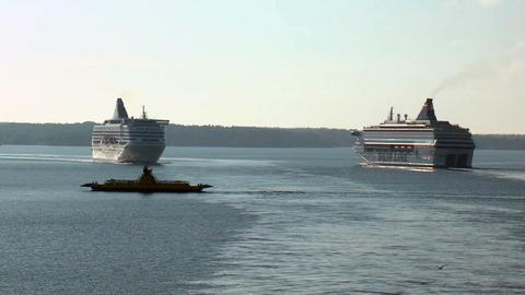 Ocean liner 9 Stock Video Footage