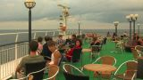 Passengers on the deck of the liner 1 Footage