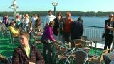 Passengers on the deck of the liner 12 Footage
