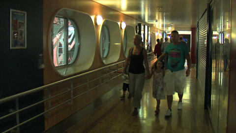 Passengers on the liner 1 Stock Video Footage