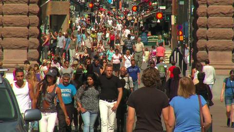 People on the street 2 Stock Video Footage