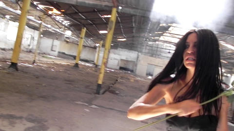 sexy beautiful girl dancing woman black dress ware Stock Video Footage
