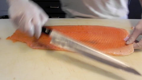 Japanese gourmet asian seafood Restaurant food Chef... Stock Video Footage