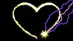 GOLDEN HEART Stock Video Footage