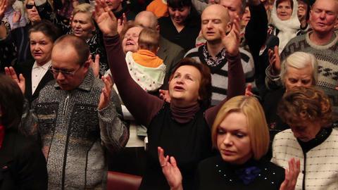Praises crowd 4 Stock Video Footage