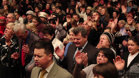 Praises crowd 6 Stock Video Footage