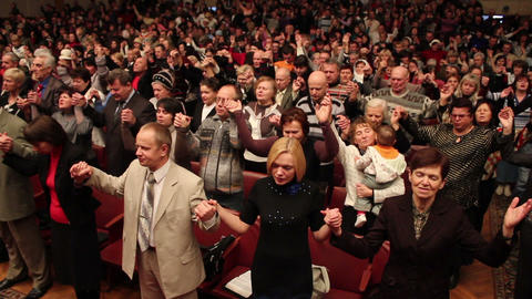 Praises crowd 8 Stock Video Footage