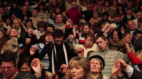 Praises crowd 10 Stock Video Footage