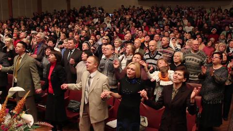 Praises crowd 12 Stock Video Footage