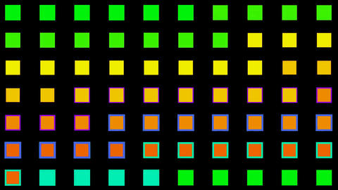 color square neon light... Stock Video Footage