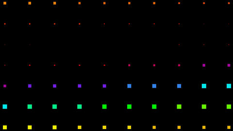 color square neon light background,Color square matrix,... Stock Video Footage