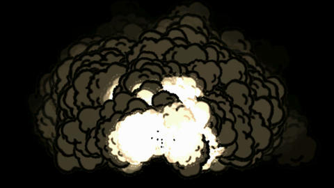 Nuclear blast,smoke,VFX element... Stock Video Footage